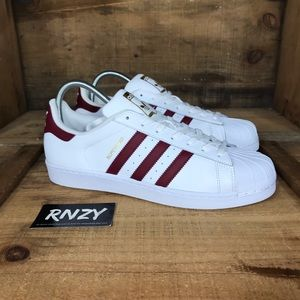 NEW Adidas Superstar Shell Toe White Red